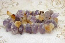 Amethyst Rough Quartz Nugget Citrine Natural Gemstone Beads Rock - Full Strand