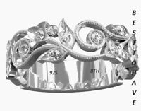 New 925 sterling Silver Ladies Luxury Wedding Engagement Bridal Band Ring