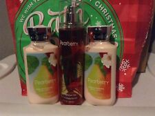 BATH AND BODY WORKS PEARBERRY FINE FRAGRANCE MIST & LOTION NEW RARE LOT OF 3