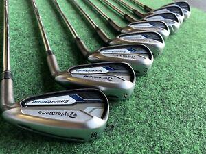 TaylorMade Golf Speedblade Iron Set 3-PW Stiff Steel 85g RH Excellent Cond