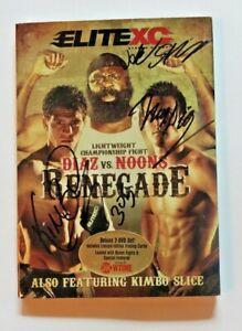 Diaz vs Noons Signed DVD Kimbo Slice, Jake Shields, Nick Diaz autographs