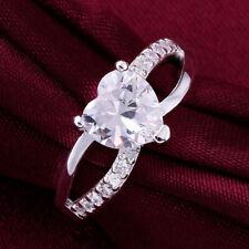 Diamond Engagement Ring 14k White Gold 1.10 Ct TDW