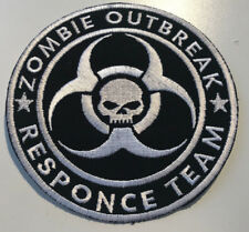 ZOMBIE OUTBREAK RESPONSE TEAM-PATCH-BIOHAZARD WITH  SKULL (IRON ON  SEW ON)