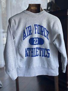 VTG 80s MADE IN USA USAF USAFA AFA Air Force Champion Reverse Weave Sweatshirt