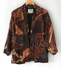 Everywear Duster/Jacket Cotton 3/4 Bat-Wing Sleeve Pockets Over-Sized Size S/M