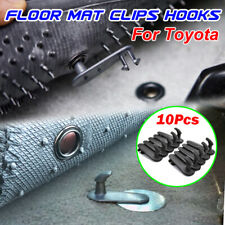 10x Car Floor Mat Fixing Clips Clamps Holders Grips Retainer Hooks For Toyota