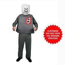 Mr Blockhead Zombie & Skeleton Fancy Dress Costume Block Head Costumes One Size