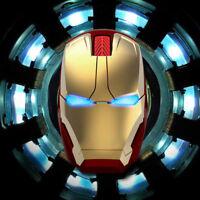 Marvel Comics Iron Man Spiel Funkmaus USB 2,4 G 4D 1600 DPI 3 LED USB-Maus