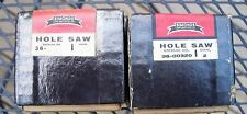 "2 Vintage Simonds Hole Saws - 1 11/16"" & 2"" Welded Edge  NEW"