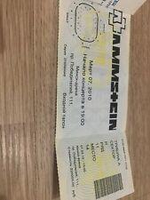 Very Rare Rammstein Ticket show 07.03.2010 live in Minsk Belarus