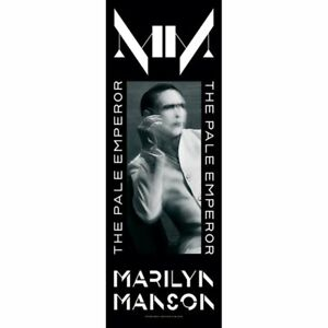 """Marilyn Manson The Pale Emperor Cloth Fabric Poster Door Flag Banner 21"""" x 58"""""""