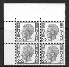 BELGIUM 1970-80 KING BAUDOUIN BLOCK OF 4 SC # 776 MNH