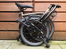 BROMPTON H6L NICKEL BLACK EDITION FOLDING BIKE BICYCLE - WORLDWIDE POSTAGE