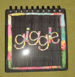 """Giggle"" Spiral Journal - FREE postage"