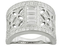 Size 9 -Bella Luce® 1.88ctw Round And Baguette Rhodium Over Sterling Silver Ring