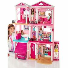 Girls Doll House Dreamhouse Playset Dollhouse Toy 70 Pieces Accessory 3 Story