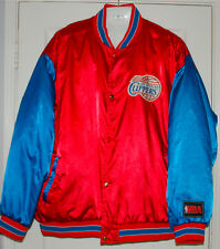 Vintage NBA Clippers Red Blue satin Jacket  XXL 2XL