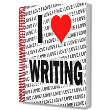 I Love Writing - A5 Notebook Pad Drawings Birthday Christmas Gift