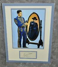 """Guy Williams Matted Display Pre-Printed Copy of Original Signature """"Zorro"""" #3"""