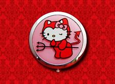 HELLO KITTY RED DEVIL CAT KAWAII POCKET ROUND COMPACT MIRROR