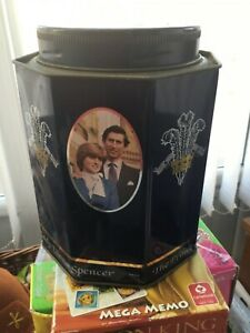 Charles and Diana wedding commemorative tin 1981