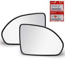Fits Honda Jazz Fit GD City 2003 07 Pair Wing Side Mirror Glass Len With Base
