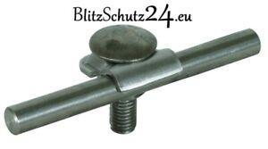 DEHN + SÖHNE  Blitzschutz / Blitzableiter,  Klemmbock Niro / Edelstahl