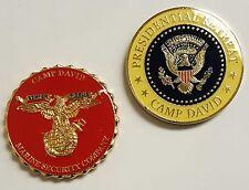 Lot 2 Coins: POTUS Retreat Camp David Marine Security Company Fire Department 51
