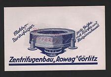 GÖRLITZ, Werbung 1927, Zentrifugenbau Rowag