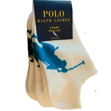 Ralph Lauren Big Pony Girls trainer socks age 4 - 7 3 pack
