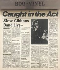 STEVE GIBBONS - CAUGHT IN THE ACT- LIVE VINYL L.P.- POLYDOR Ex Con