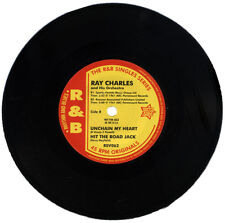 "RAY CHARLES  ""UNCHAIN MY HEART & HIT THE ROAD JACK""   E.P.  KILLER R&B"