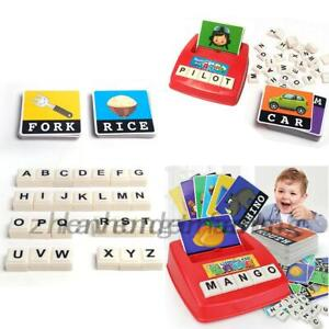 English Alphabet Game Machine See Pictures Spelling Words Early Educational Toys