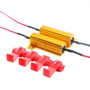 LED Load Equalizer 50W 6Ohm Resistor 3157 Front Turn Signal Hyper Flash Stop E
