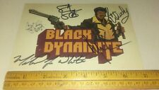 BLACK DYNAMITE 2008  ADULT SWIM authentic signed autographed card Carl Jones + 4