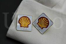 Custom Made Cufflinks Handmade Shell Gas Automotive Car Orange Red Weeding USA