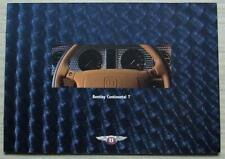 BENTLEY CONTINENTAL T Car Sales Brochure 1996
