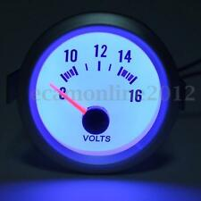 "Pointer 2"" 52mm 8-16V Blue LED Volt Voltmeter Voltage Gauge Meter Car Boat Auto"