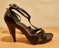 Damenschuhe,Sandaletten,Gr. 38, schwarz,Riemchenverschluß