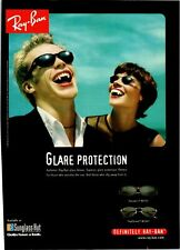"""1998 VINTAGE 8X11 PRINT AD FOR RAY-BAN SUNGLASSES """"GLARE PROTECTION"""" VAMPIRES"""
