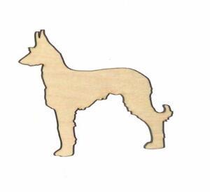 Wire haired Ibizan Hound Dog Unfinished Wood Shape W11745 Lindahl Woodcrafts