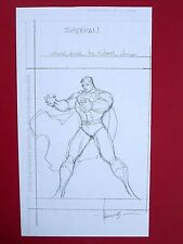 ALE GARZA ORIGINAL SKETCH ART SUPERMAN (NM) SIGNED 8.5x11 DC Grimm Fairy Tales