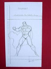 ALE GARZA ORIGINAL SKETCH ART SUPERMAN (NM) SIGNED 8.5x11 DC Grimm Fairy Tales Comic Art