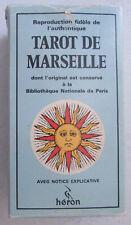 Jeu de Tarot de Marseille Boéchat avec notice explicative, reproduction Héron
