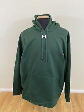 Under Armour Loose Pullover Hoodie Fleece Lined Sweatshirt Green Men's Size 3XL