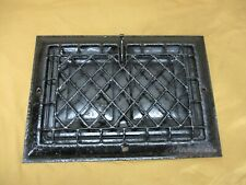 "Antique Salvage Metal Floor Wall Register Heat Vent Grate Open Closes 14"" x 10"""