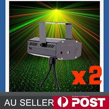 2x BLK Mini Projector DJ Disco Light Stage R&g Party Laser Lighting Show AU Plug