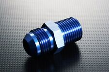 JIC4 AN -4 to Metric M12 P1.25 Fitting Adapter 7/16 x 20 UNF to 12mm x 1.25 Blue