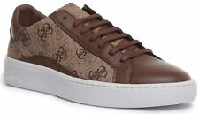 Guess Fm8Verfal12 Verona Lace up Cupsole Trainer In Brown Size UK 6 - 12