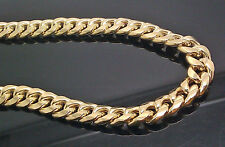 "Real 10K Yellow Gold Men's Miami Cuban Chain 24"" Long,10mm(approx) ,Franco, Rope"
